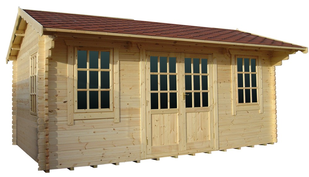 18ft x 18ft Wide Dalton Log Cabin