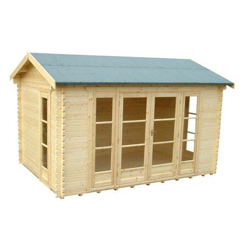 14ft x 12ft Wide Bamber Log Cabin
