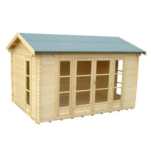 14ft x 14ft Wide Bamber Log Cabin
