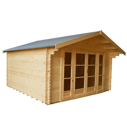 14ft x 16ft Wide Balmoral Log Cabin