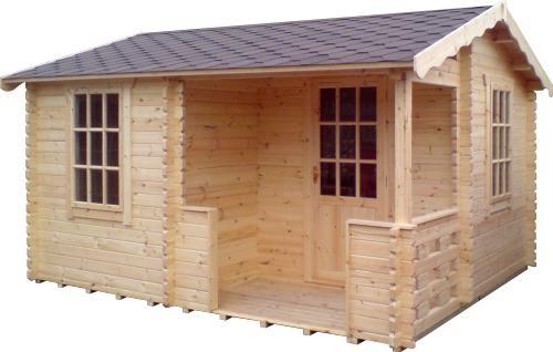 14ft x14ft Wide Gyles Log Cabin