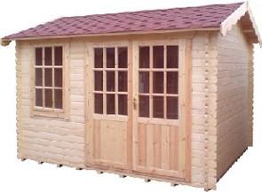 14ft x14ft Wide Henley Log Cabin