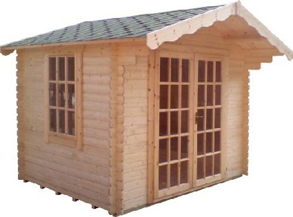8ft x 8ft Wide Lotherton Log Cabin