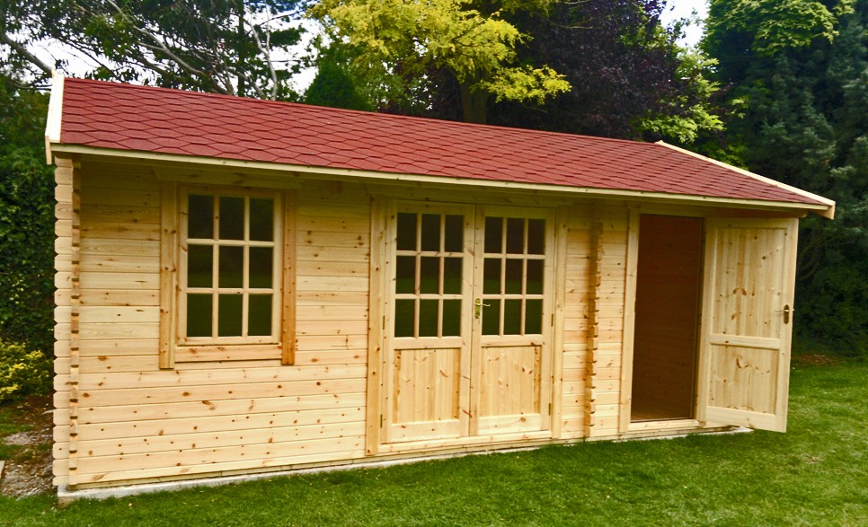 16ft x 14ft Wide Newport Log Cabin