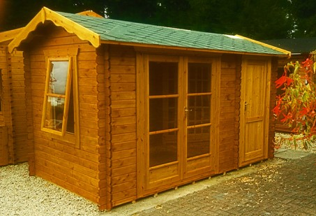 14ft x 14ft Wide Oxford Log Cabin