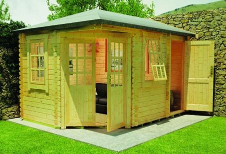 14ft x 10ft Victoria Log Cabin