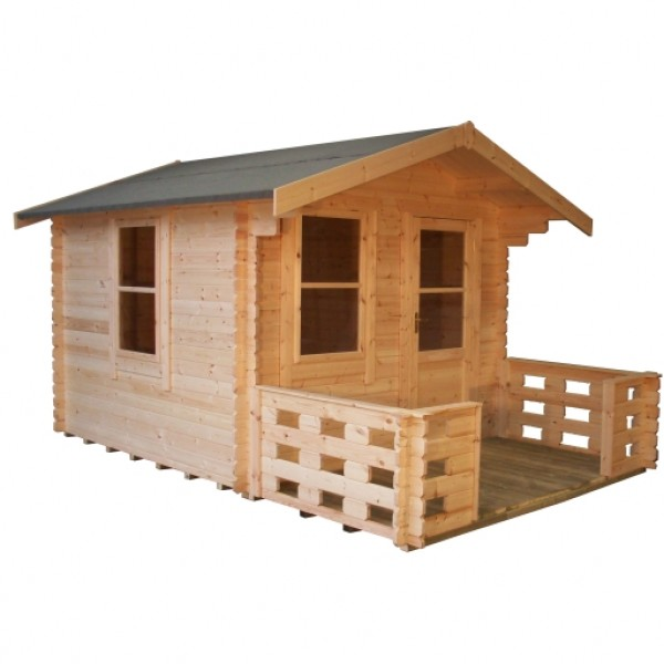 10ft X 8ft Wide Carrington Log Cabin Carrington